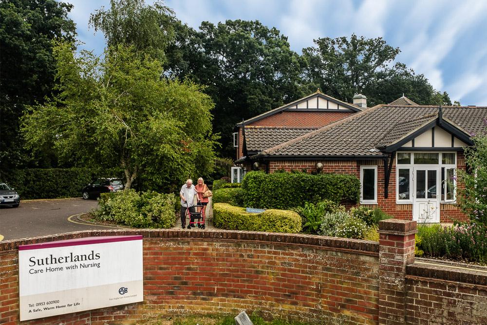 Sutherlands Care Home in Wymondham
